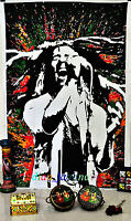 Indian Twin Bob Marley Singing Beautiful Cotton Wall Hanging Art Tapestry Hippie