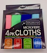 PACK OF 4-8 MICROFIBRE CLOTHS FOR TV WINDOW KITCHEN PAD AND MULTI-PURPOSE CLOTHS