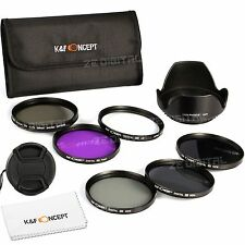 KF Concept UV CPL FLD ND2 4 8 Filter Kit Nikon Canon Sigma Tamron DSLR 67mm Lens