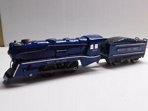 O Scale - MARX Vintage Custom? Bleu De Roi 0-4-0 Steam Locomotive & Tender Train