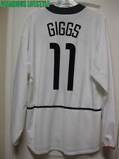 GIGGS #11 Manchester United 2002-2003 Away Long-Sleeves Shirt Jersey XL