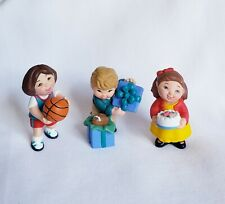 "Set of 3 Hallmark Merry Miniature 2000 ""Kids Collection"" Gift, Cake & Basketball"