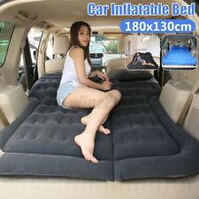 Inflatable Outdoor Travel Car Mattress Air Bed Back Seat Sleep Mat 2 Pillow Pump