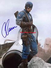 Chris Evans And Stan Marvel's Captain Ameri autographed 8x10 photo RP
