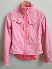 Lululemon Out and About Cycling Jacket Bleached Coral Ruffle Jacket size 4 S ?