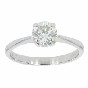 Womens - 18ct White Gold 0.80cts Diamond Solitaire Ring - L