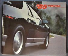 1985 Pontiac 72pg Brochure Firebird Trans Am Fiero Bonneville Grand Prix Sunbird