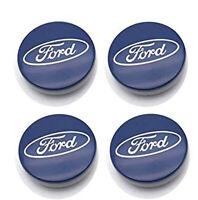 4x 60mm Ford Dunkelblau Chrom Nabendeckel Felgendeckel Nabenkappe Nabenabdeckung