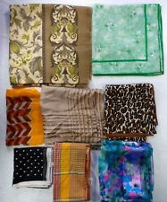 Women's Scarves Mixed Lot Vintage Silk Square Floral Sheer Satin Fashion Group C