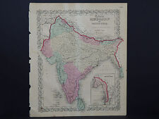 Colton's Maps, 1855, Authentic #37 Hindostan or British India
