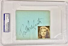 Rita Hayworth PSA/DNA Authentic Autograph Certified Signed Photograph Auto NICE