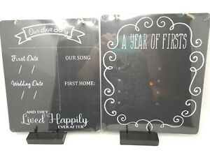 Sign OUR LOVE STORY & A YEAR of FIRSTS Wedding/Engagement/Anniversary CHALKBOARD