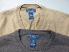 2 Joseph & Lyman Mens Size XL Light Dark Brown 100% Wool Sweaters