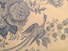 Ralph Lauren DAUPHINE FULL QUEEN Duvet Cover Light Blue White Floral Bird Toile
