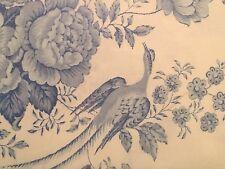 Ralph Lauren DAUPHINE FULL QUEEN Duvet Cover Light Blue White Floral Bird Toile