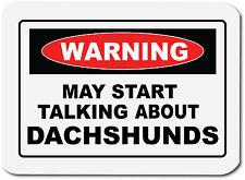 Avvertenza parlando DACHSHUNDS-Cane / Cucciolo / Salsiccia Cane COMPUTER PC TAPPETINO MOUSE
