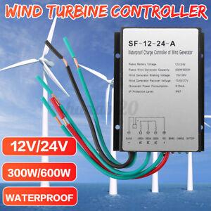 12V/24V 600W Wind Light Turbine Generator Charge Controller Regulator Tool IP67