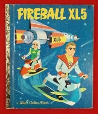 Vintage Little Golden Book Fireball XL5 Rare Space Adventure Golden Press 1964