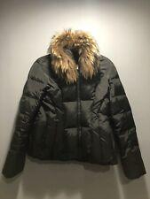 APT 9 Women's Down Fill Black Winter Puffer Jacket Large Real Fur Trim Ski Loft