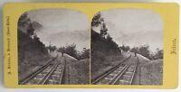 Suisse Chemin Da Ferro Del Rigi Foto A. Braun Stereo Vintage Albumina c1865