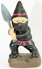 GARDEN GNOME The Ninja Fighting Naughty Gnome Looking For Home 21cm Really Cute*