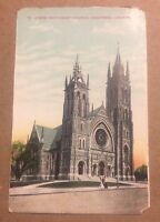 ST. JAMES METHODIST CHURCH, MONTREAL PQ/QC CANADA early unused divided postcard