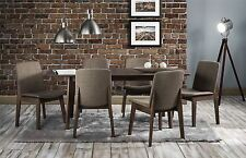 Julian Bowen Kensington Walnut Extending Dining Table & 4 Chairs Solid Wood