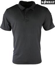 Kombat Combat Military Army Tactical Polo Shirt T-shirt Ventex Top Black Grey