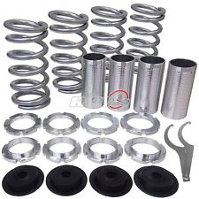 "SILVER 0""-3"" HONDA/ACURA LOWERING SLEEVE ADJUSTABLE COILOVER SPRING SUSPENSION"