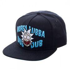 Adult Swim  Licensed Rick and Morty Wubba Lubba Dub Dub Black Snapback Cap Hat