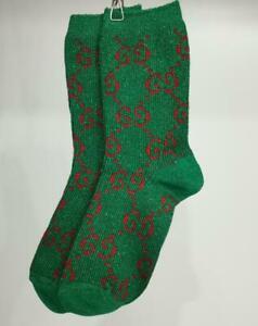 Women Socks G Cotton Blend Green Socks One size
