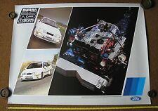 Original Ford Sierra Rs Cosworth MK1 FOLLETO de distribuidor cartel conjugaban SP1332 500