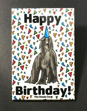 Afghan Hound Dog Happy Birthday Magnet Confetti Celebration Gifts and Home Decor