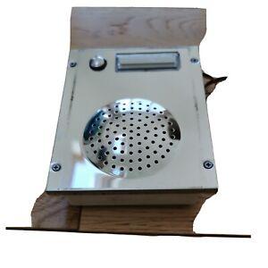Videx Single button intercom 8836M-1 Stainless button