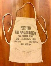 Pottsville PA 1950's Wall Paper Paint Company Apron