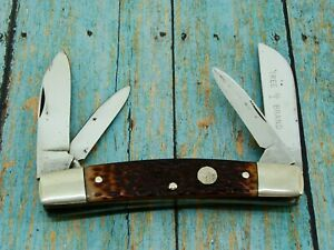 VINTAGE BOKER TREE BRAND 5974 USA JUMBO 4BL TOBACCO CONGRESS POCKET KNIFE KNIVES