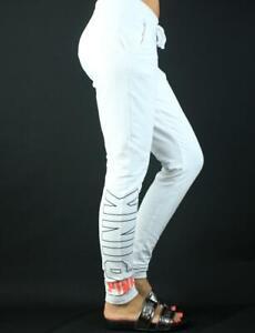 Victoria's Secret PINK Skinny Dorm Sweat Pants Stretch Fleece White