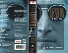 JOHN LENNON - A TRIBUTE - VHS - PAL - NEW - Never played - Original Oz release