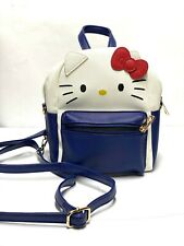 HELLO KITTY - mini backpack / purse - Blue and White - NEVER USED - JAPAN BOUGHT