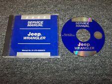 2002 Jeep Wrangler Shop Service Repair Manual DVD SE X Sport Sahara 2.5L 4.0L