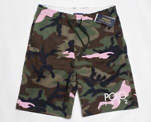 Polo Ralph Lauren 1992 Vintage Retro Collection drawstring Camo & pink Shorts L
