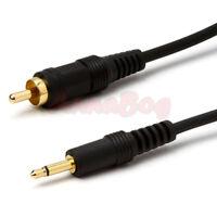 6FT 3.5mm 1/8 Mono Male Mini Plug to Male RCA Plug Adapter Audio Cable