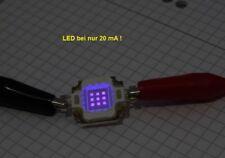High Power SMD LED 10 Watt Royal UV Aquarium Gewächshaus  9-11V 395-405 nm COB