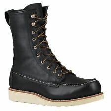 Red Wing 8 Inch Moc 3424 Black Womens Leather Lace-up Work Mid-Calf Boots