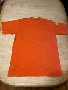 Men's BULWARK Flame Resistant Short Sleeve Pocket Shirt Orange Size XL