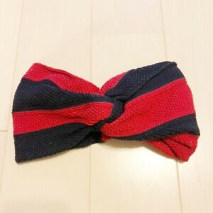 Gucci Women's Hairband Blue Red Cotton Excellent Tag