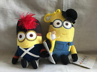 free post 2 DESPICABLE ME MINION PLUSH FIGURES NEW WITH TAGS 2