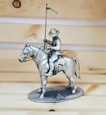 Royal Canadian Mounted Police Slavko Dugar Statue Figurine Silver Plated Pewter