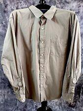 Men's LS Large Gray Pin Stripe Poplin Dress Shirt Falls Creek NWT