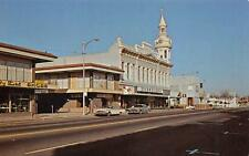 Red Bluff, California Main Street Scene Cone-Kimball Building Postcard ca 1950s